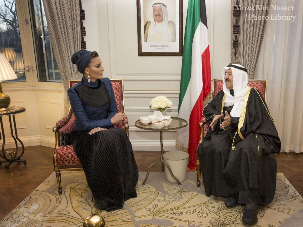 His Highness the Emir of Kuwait meets HH Sheikha Moza