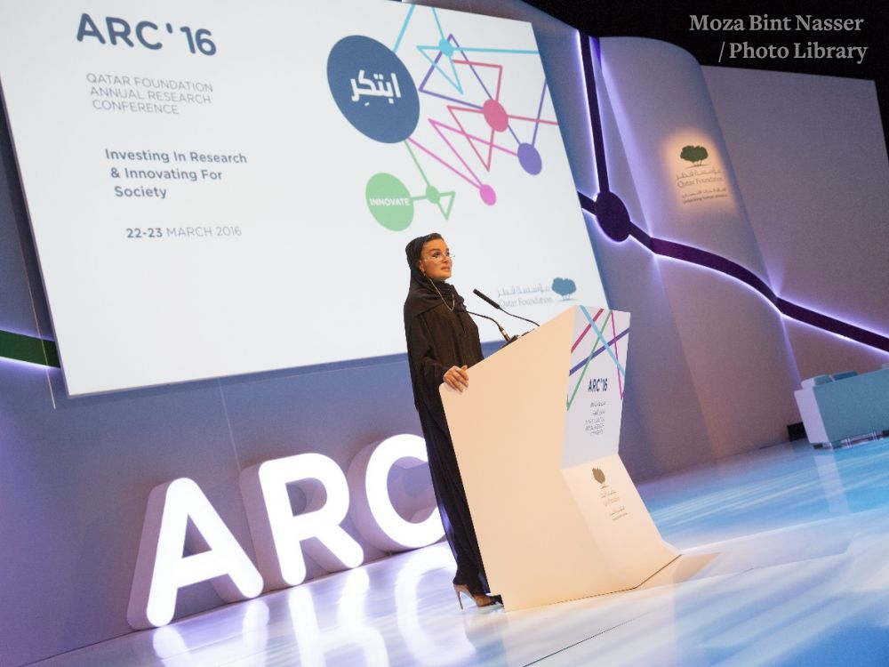 Her Highness Sheikha Moza Bint Nasser inaugurates the sixth edition of Qatar Foundation's annual research conference