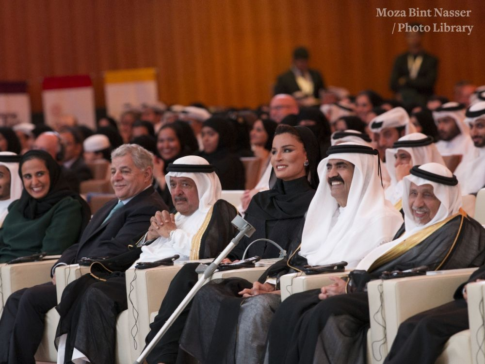 HH The Father Amir and HH Sheikha Moza attend QF Convocation 2016
