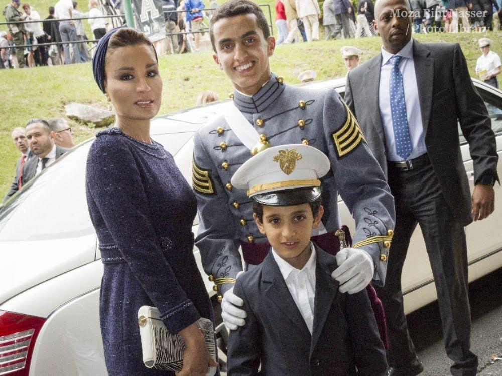 HH Sheikha Moza attends US Military Academy Graduation