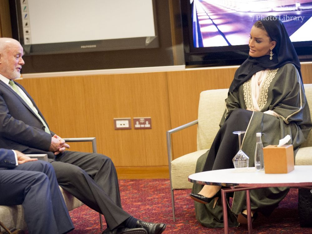 HH Sheikha Moza Meets President of United Nations General Assembly