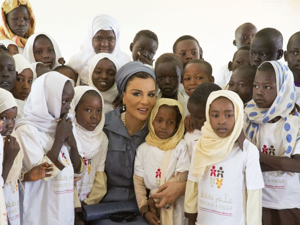 HH Sheikha Moza Visits Education And Employment Projects In Sudan