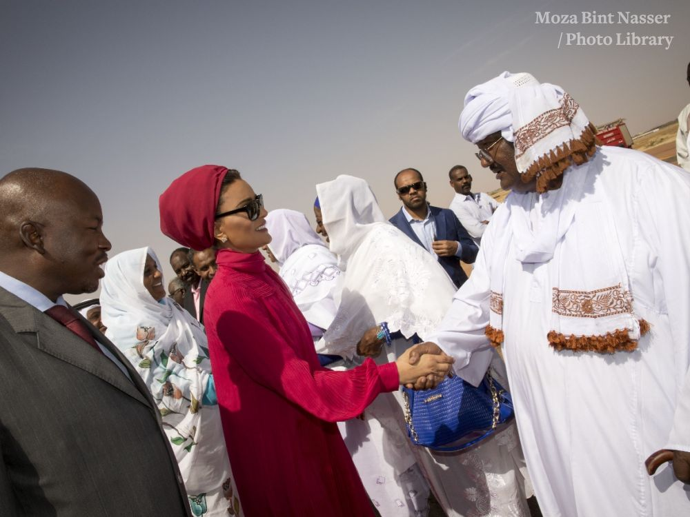 HH Sheikha Moza Visits Education And Employment Projects In North Kordofan, Sudan
