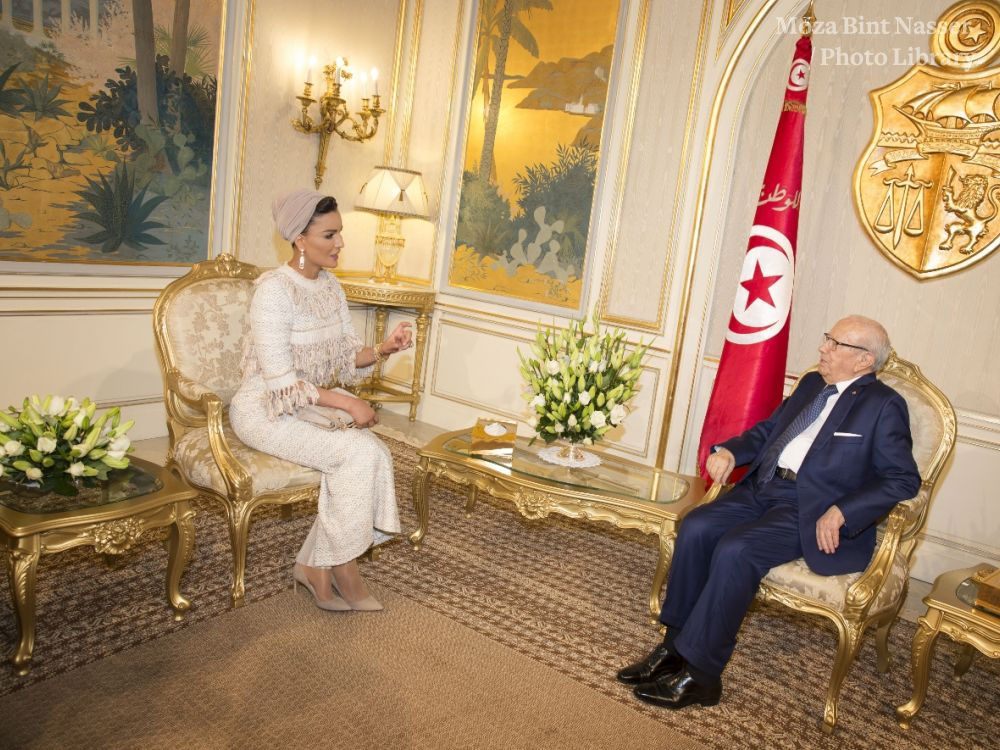 HH Sheikha Moza Bint Nasser Meets President Of Tunisia And Visits Silatech Projects