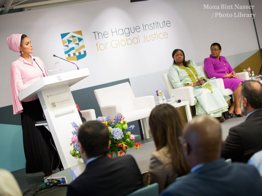 HH Sheikha Moza calls for global leadership to protect education in conflict.jpg