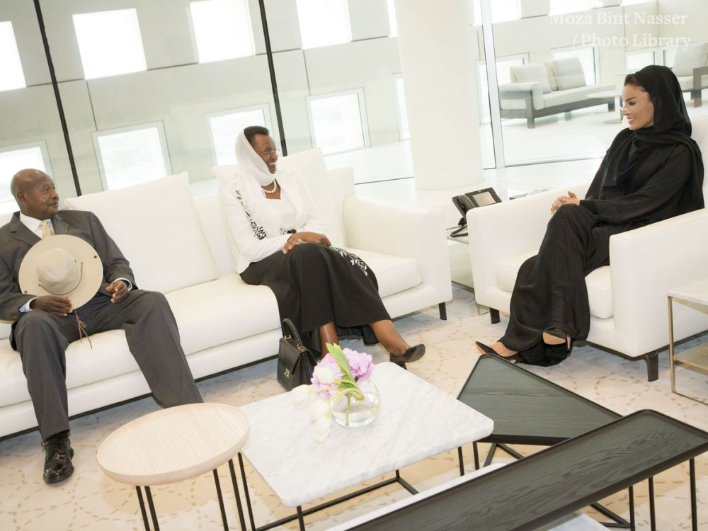 HH Meets with the President of Uganda