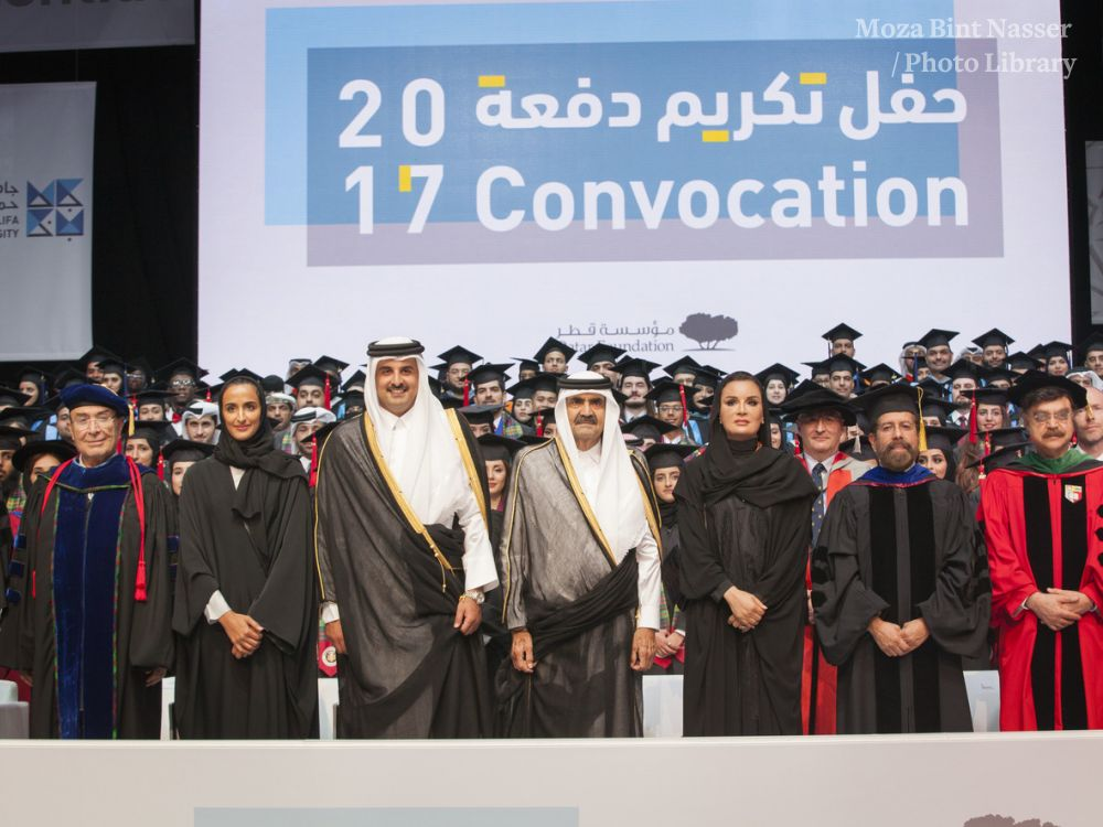 HH the Emir Patronizes Education City Universities Graduation Ceremony