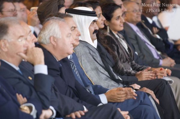TH the Emir and Sheikha Moza attend the first Annual Meeting of the Clinton Global Initiative