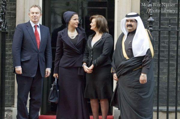 سمو الشيخه موزا  تزور لندن