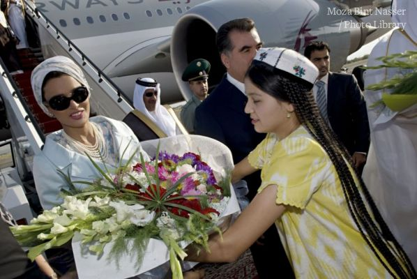 Their Highnesses on a two-day visit to Tajikistan