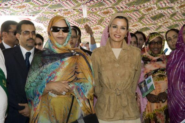 زيارة سمو الشيخة موزة مؤسسة بنت البخاري في نواكشوط