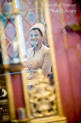 Her Highness Sheikha Moza Visits the Dresden Castle