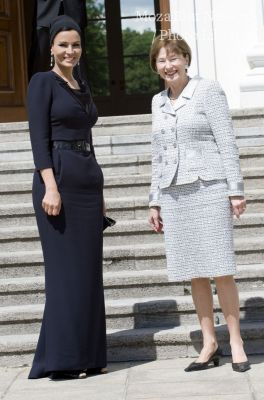 HH Sheikha Moza meets Mrs. Eva Luise Koehler, the German First Lady