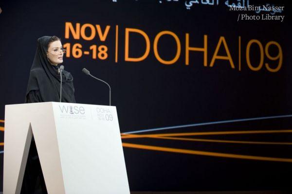 صاحبة السمو الشيخة موزة تفتتح مؤتمر القمة العالمي للإبداع في التعليم وايز