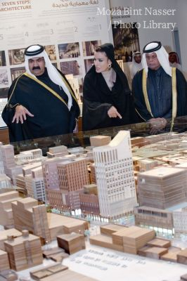 Their Highnesses Lay the Foundation Stone for the Musheireb - DOHALAND Project
