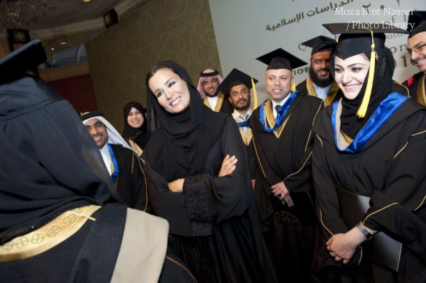 HH Sheikha Moza attends the ceremony of the First Graduates Masters Degree 2010 of FIS