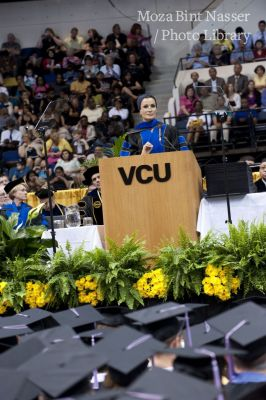 HH Sheikha Moza attends the VCU 2010 Spring Commencement