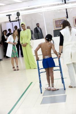 HH Sheikha Moza visits Sarah Hospital for Rehabilitation