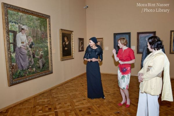 Her Highness Sheikha Moza visits the Slovenia Museum of National Art
