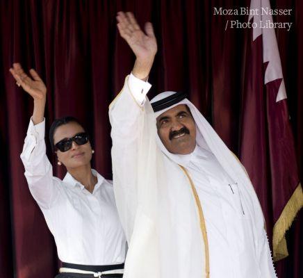 Their Highnesses the Emir Sheikh Hamad and Sheikha Moza visit south Lebanon