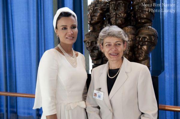 HH meets with UNESCO Director-General Irina Bokova & UNDP Administrator Helen Clark