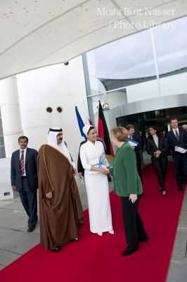 Their Highnesses' official visit to Germany - meeting Chancellor Angela Merkel