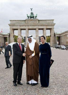 Their Highnesses at the Brandenburg Gate