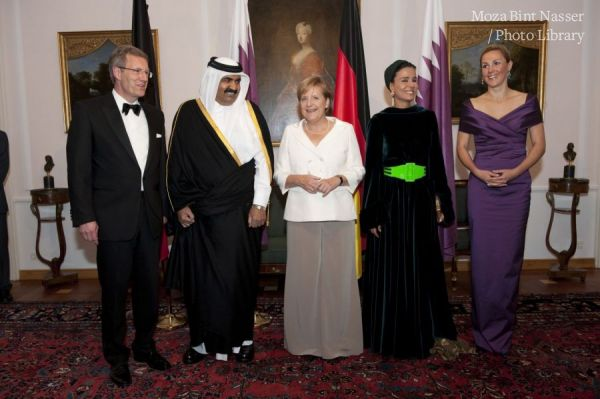 Their Highnesses attending an official dinner with German President