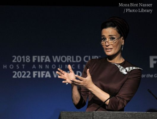 HH Sheikha Moza giving the closing speech for Qatar's 2022 FIFA World Cup bid presentation
