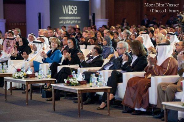 HH Sheikha Moza bint Nasser attends Wise opening
