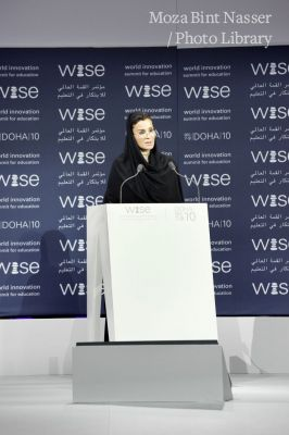 HH Sheikha Moza bint Nasser speaking at Closing Session of WISE