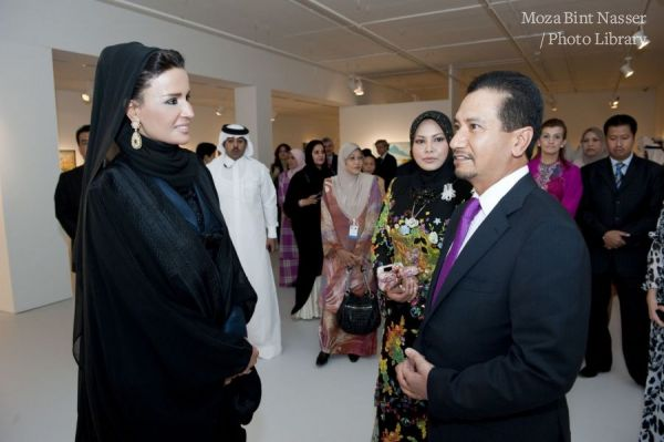 Their Highnesses at the inaugural ceremony for Mathaf: Arab Museum of Modern Art