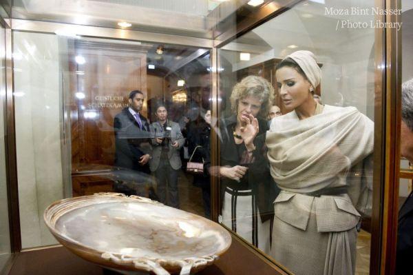 HH Sheikha Moza visits to Austrian Treasury of Hofburg Palace