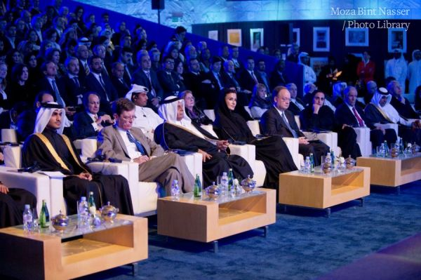 Her Highness Sheikha Moza attends the Georgetown building inauguration ceremony