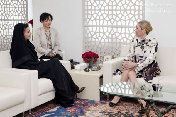 HH Sheikha Moza meets Mrs. Bettina Wulff, First Lady of Germany
