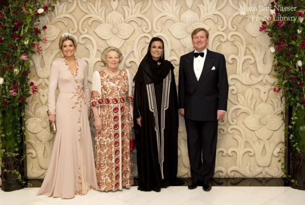 HH Sheikha Moza and Queen Beatrix of the Netherlands attend concert at Katara