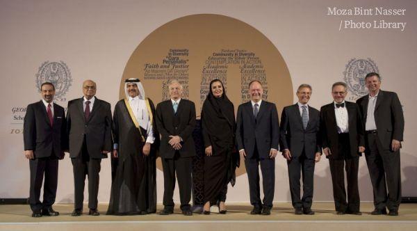 HH Sheikha Moza at Georgetown Qatar 10th anniversary