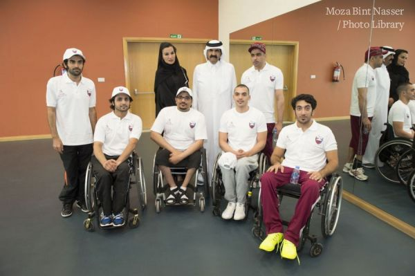 TH the Father Emir Sheikh Hamad and Sheikha Moza at QF National Sports Day 2015
