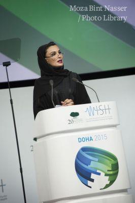 صاحبة السمو الشيخة موزا تفتح مؤتمر ويش 2015