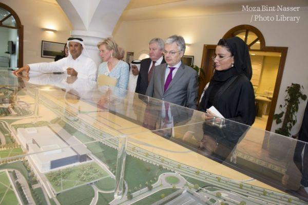 HH Sheikha Moza meets Princess Astrid