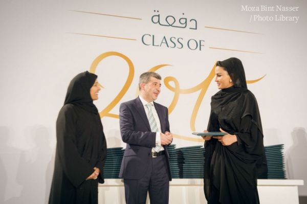 HH Sheikha Moza at the Hamad bin Khalifa University Graduation Ceremony 2015