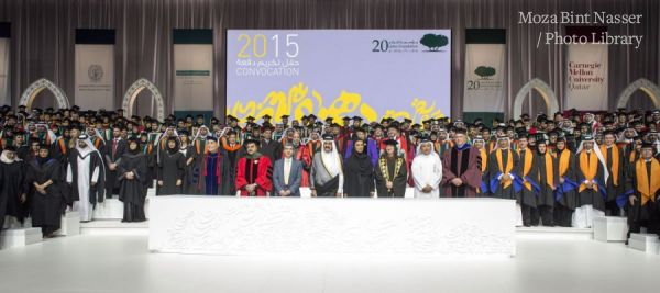 TH the Father Emir and Sheikha Moza at the annual Qatar Foundation Convocation Ceremony 2015