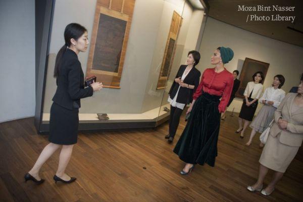 HH Sheikha Moza tours Leeum, Samsung Museum of Art