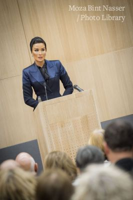 HH Sheikha Moza at opening of University of Oxford Middle East Centre