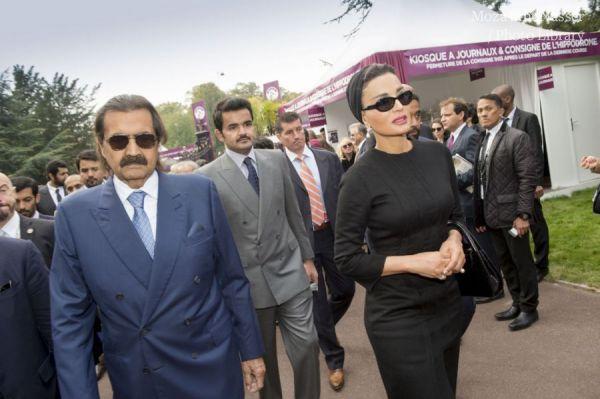 في منافسات اليوم الختامي لفعاليات مهرجان قطر- قوس النصر للفروسية في دورته رقم 94 بباريس