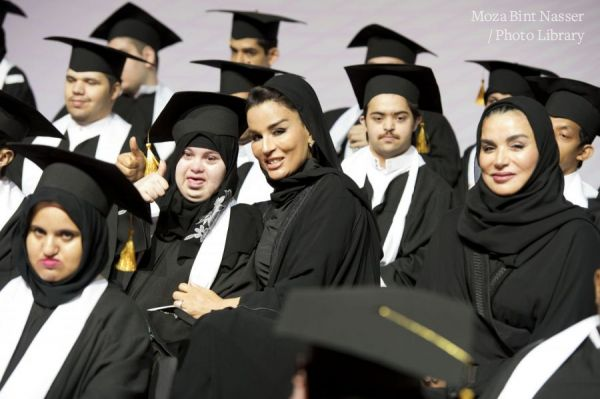 HH Sheikha Moza at Shafallah Center graduation