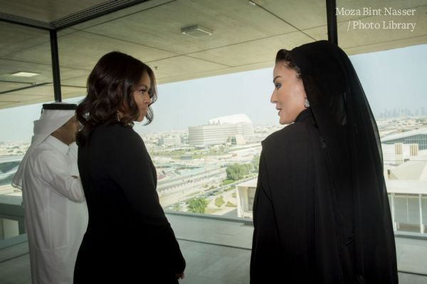 HH Sheikha Moza welcome First Lady of the US