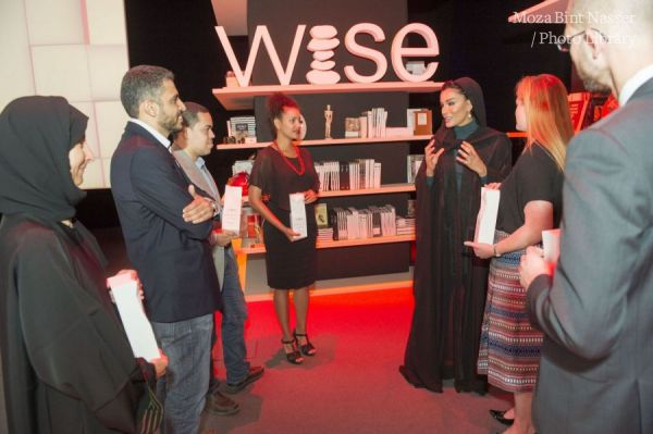 HH Sheikha Moza with WISE Award 2015 winners