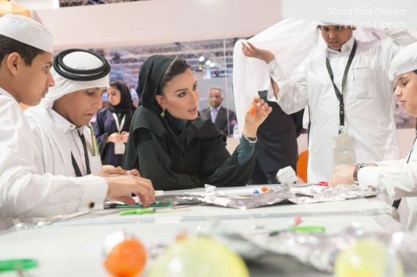 HH Sheikha Moza at the WISE 2015 Learning Labs
