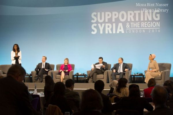 HH Sheikha Moza at Supporting Syria and the Region conference